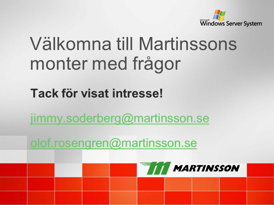 Välkomna till Martinssons monter med frågor