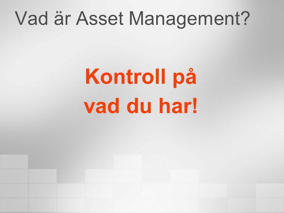 Vad är Asset Management