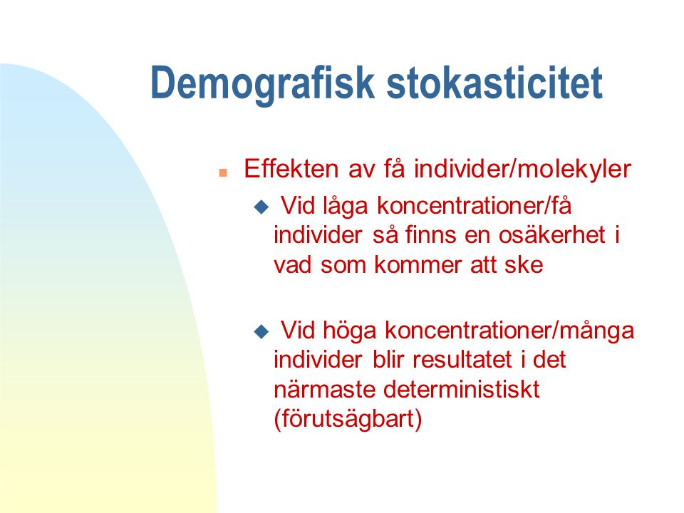 Demografisk stokasticitet