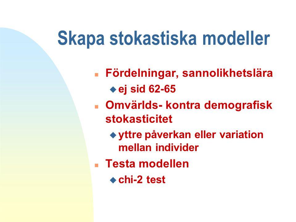 Skapa stokastiska modeller