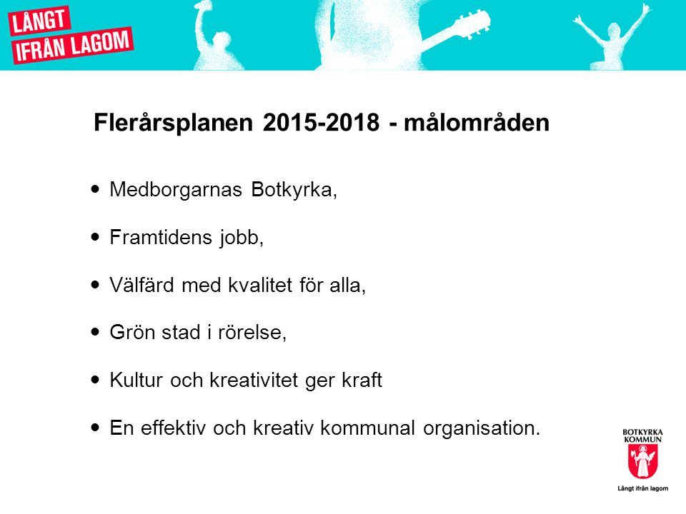 Flerårsplanen 2015-2018 - målområden