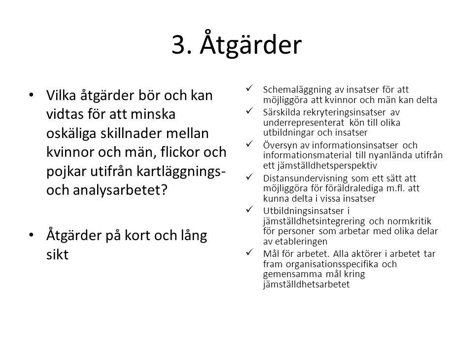 3. Åtgärder