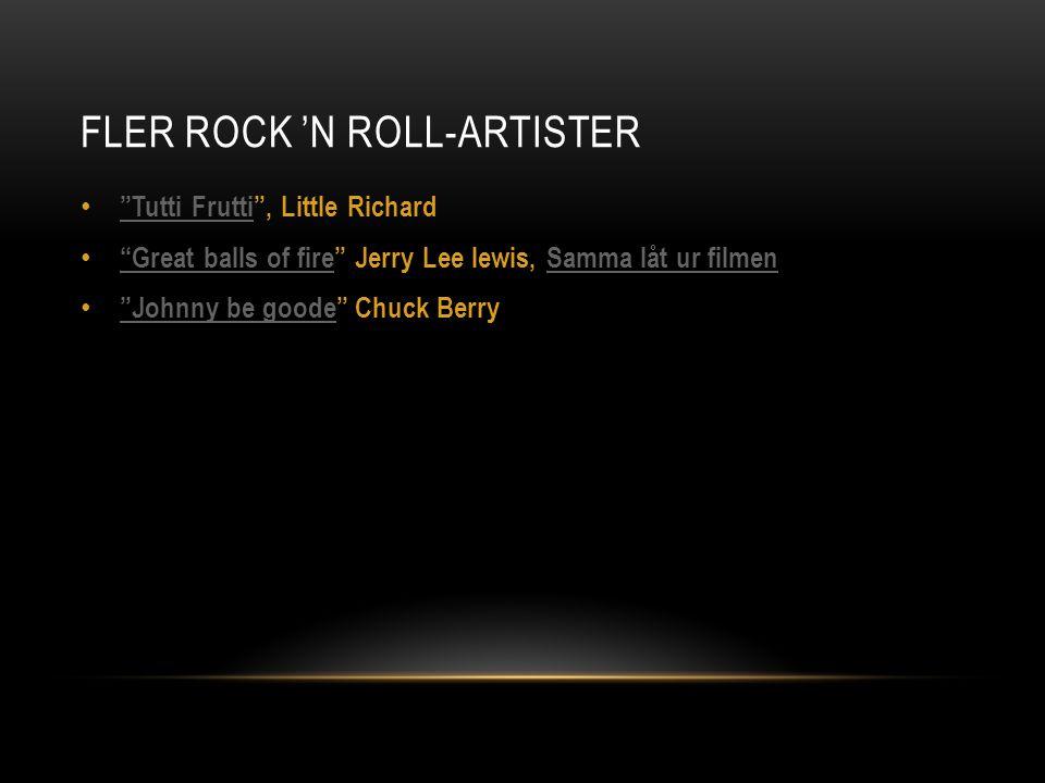 Fler Rock 'n roll-artister