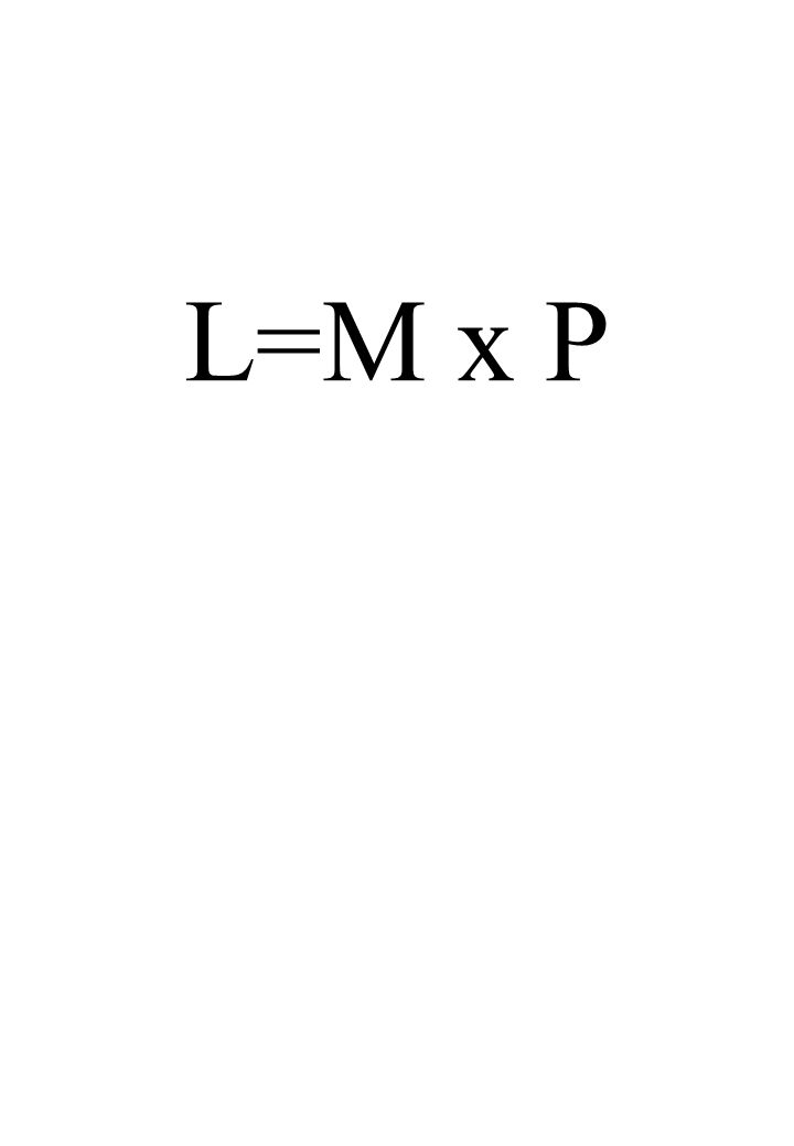 L=M x P