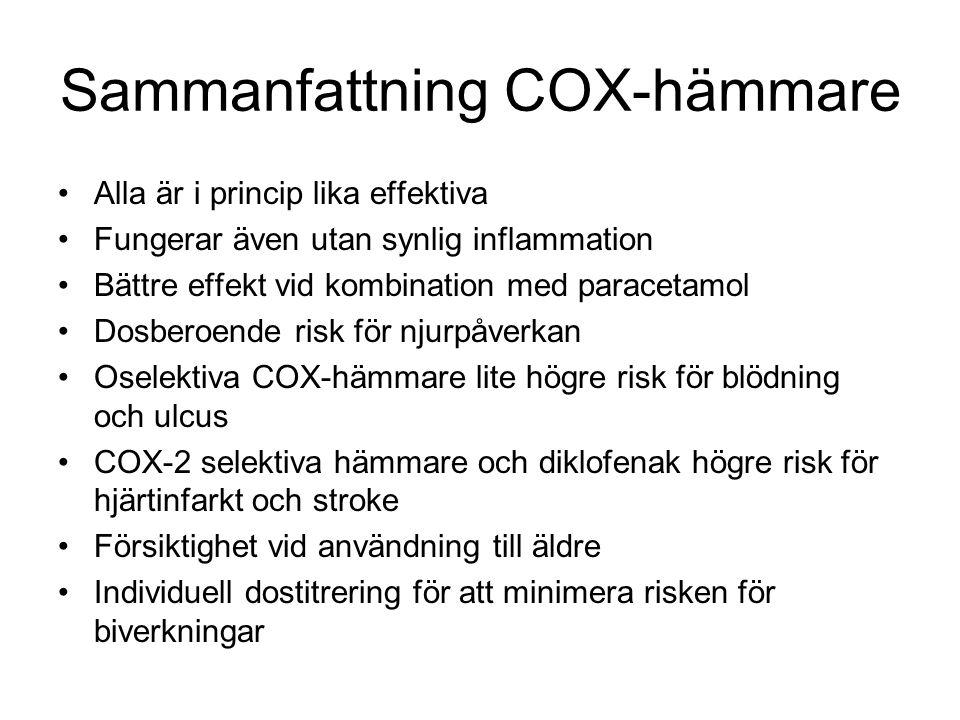 Sammanfattning COX-hämmare