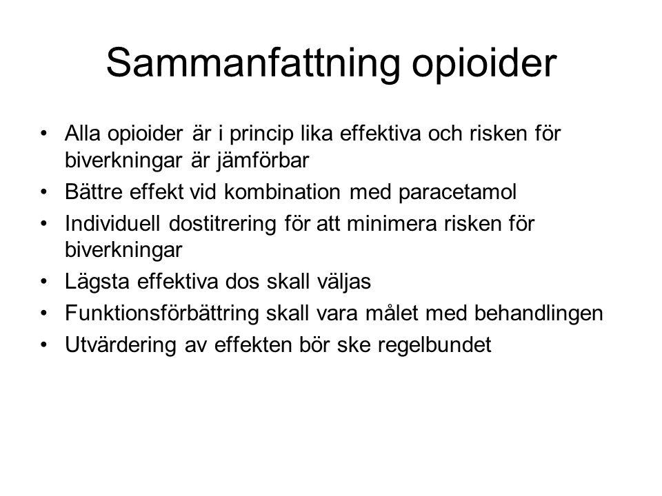 Sammanfattning opioider