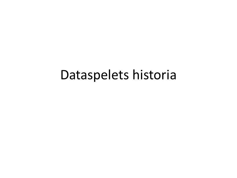 Dataspelets historia