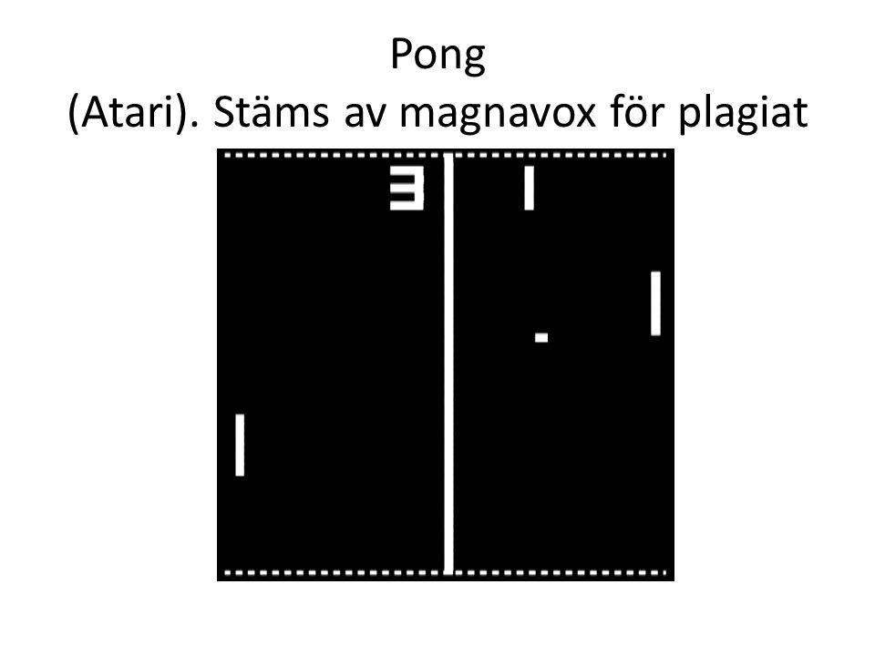 Pong (Atari). Stäms av magnavox för plagiat