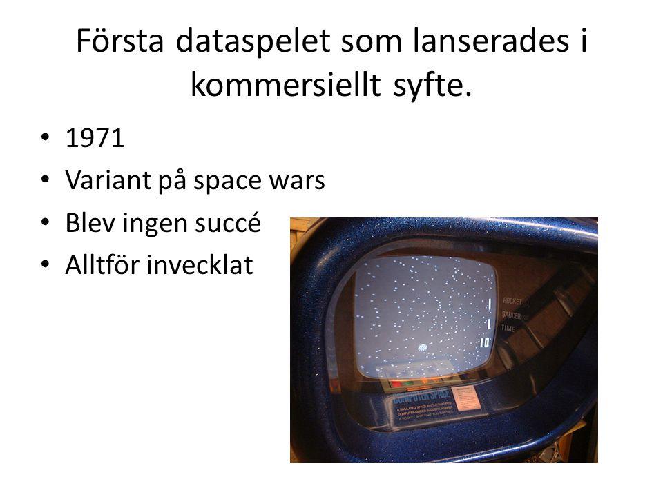Första dataspelet som lanserades i kommersiellt syfte.