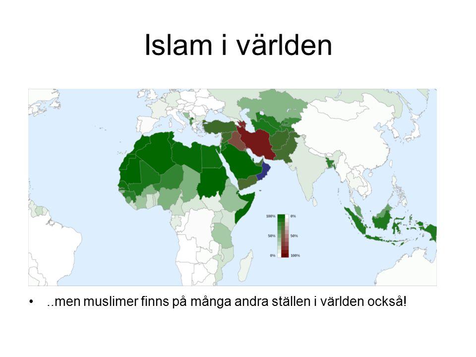 Islam i världen ..men muslimer finns på många andra ställen i världen också!