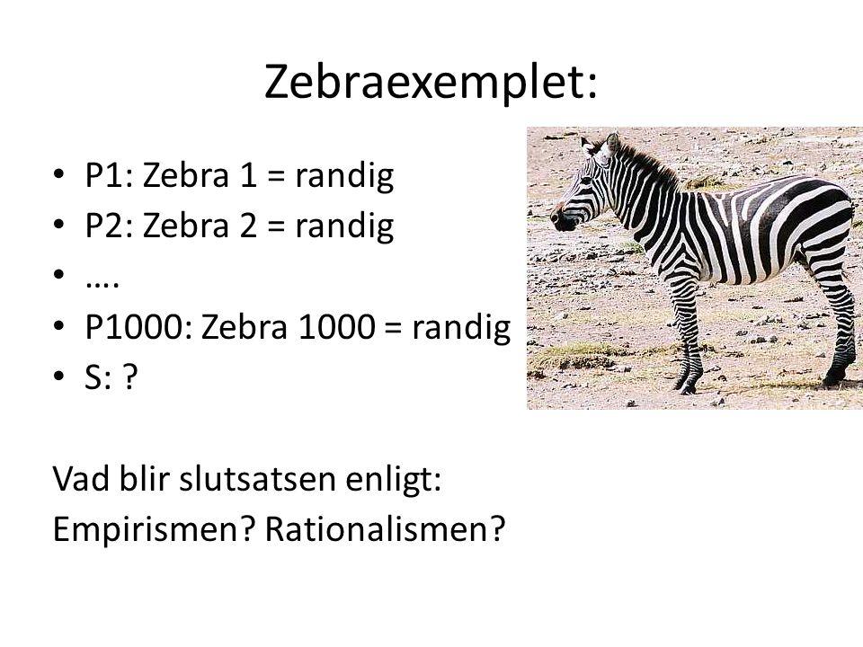Zebraexemplet: P1: Zebra 1 = randig P2: Zebra 2 = randig ….