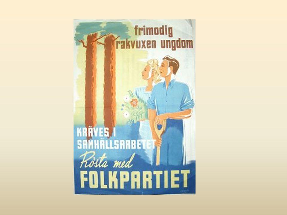 Valaffisch från Folkpartiet. Frimodig