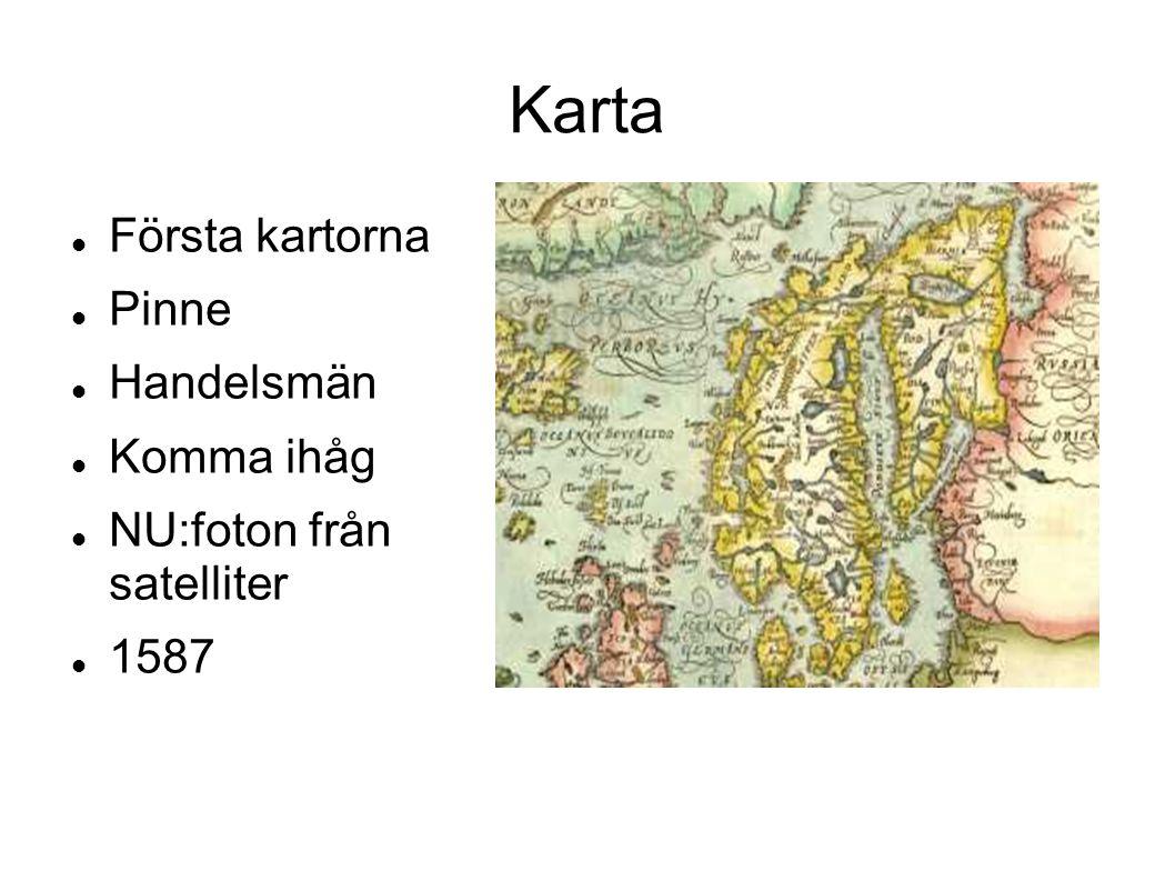 Karta Första kartorna Pinne Handelsmän Komma ihåg
