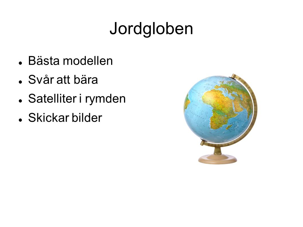 Jordgloben Bästa modellen Svår att bära Satelliter i rymden