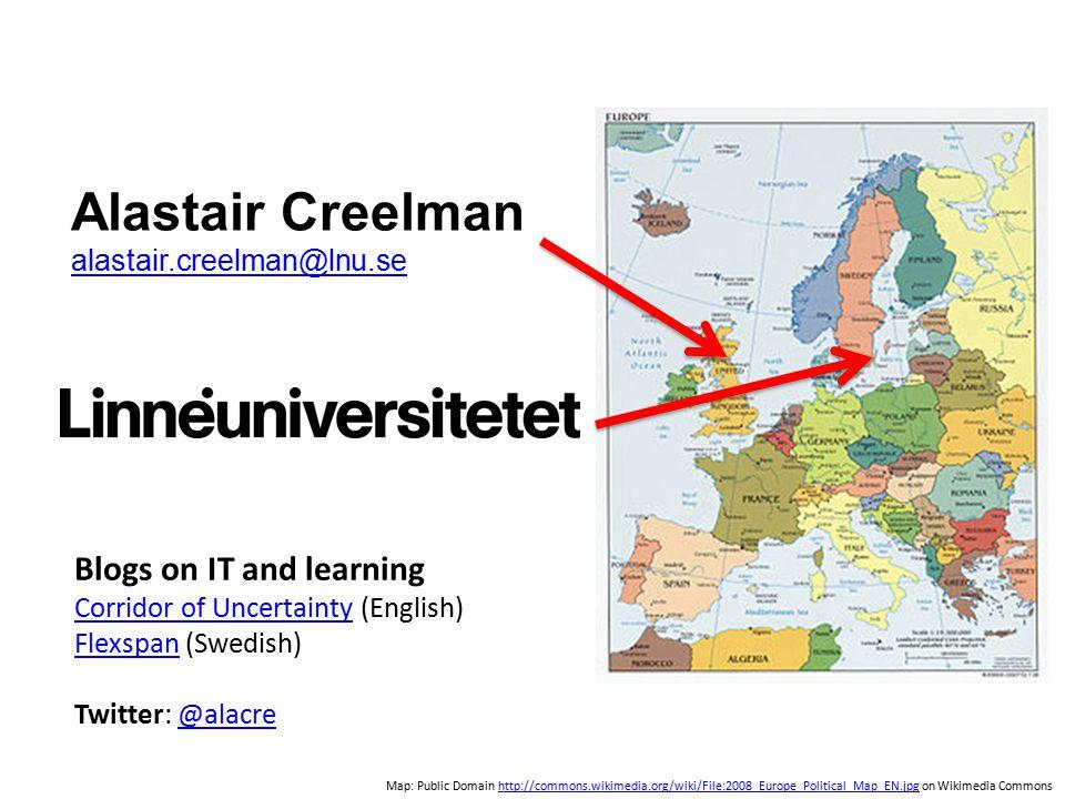 Alastair Creelman alastair.creelman@lnu.se