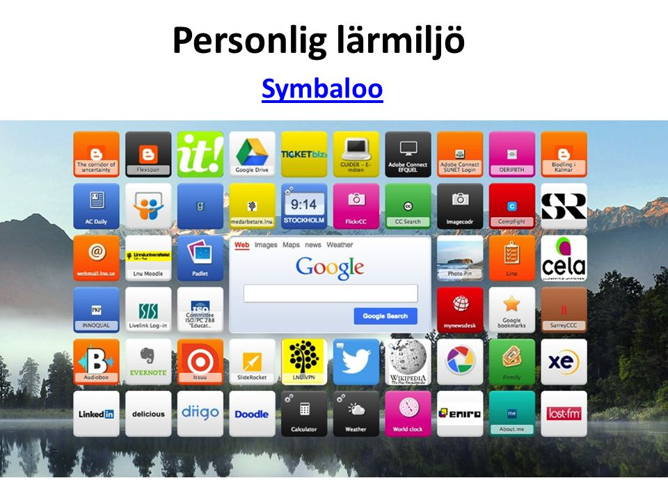 Personlig lärmiljö Symbaloo