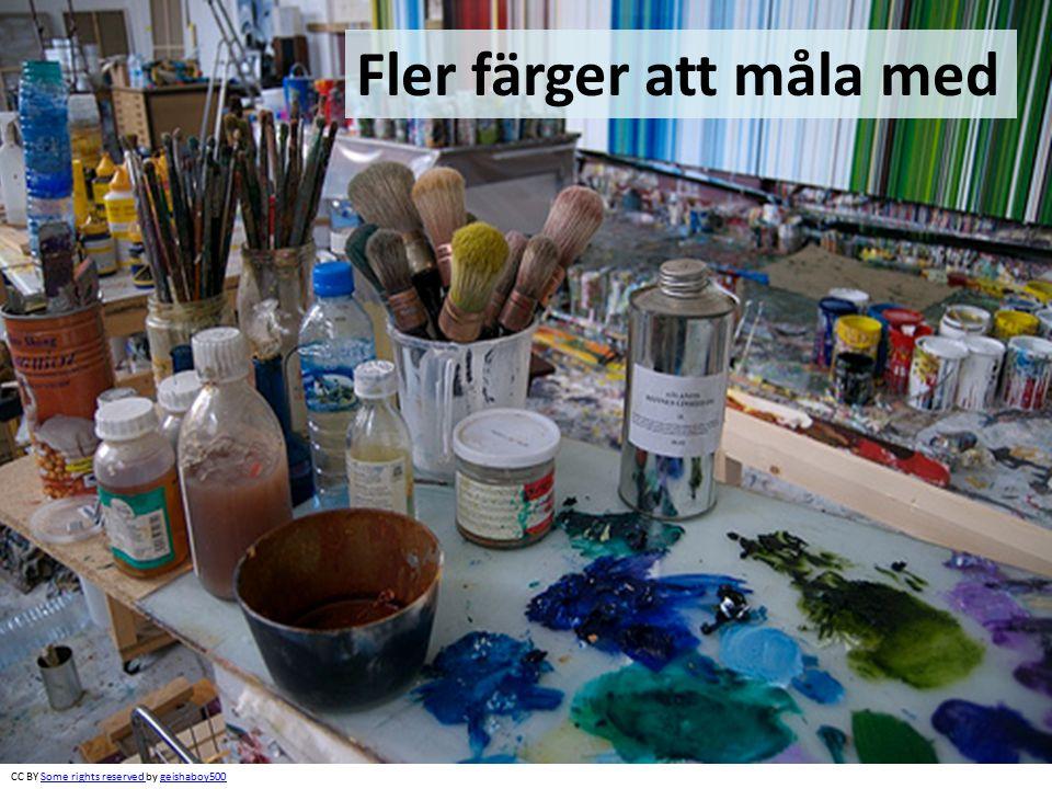 Fler färger att måla med