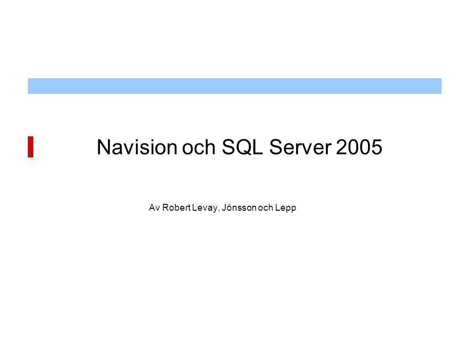 Navision och SQL Server 2005