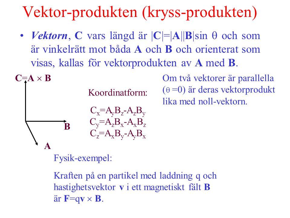 Vektor-produkten (kryss-produkten)