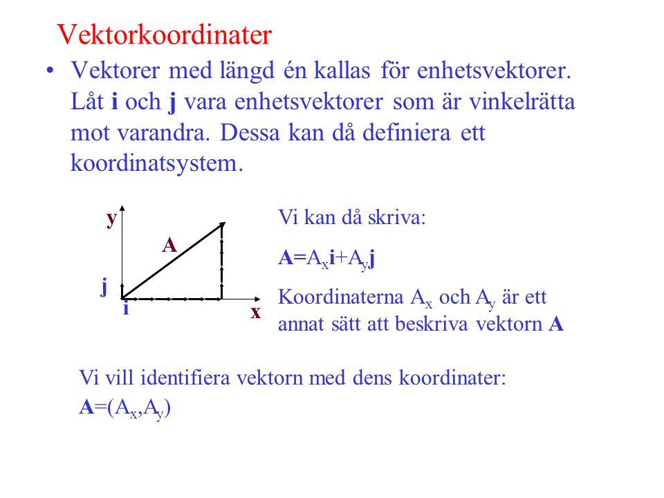 Vektorkoordinater