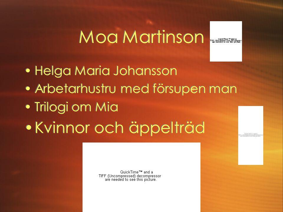 Moa Martinson Kvinnor och äppelträd Helga Maria Johansson