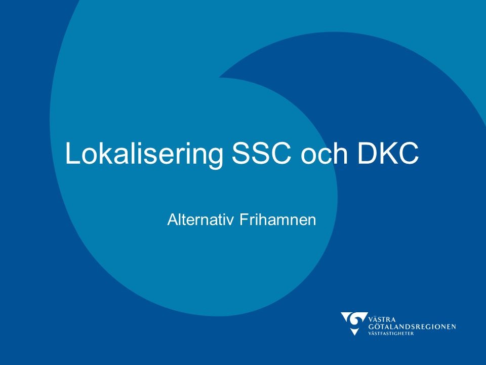 Lokalisering SSC och DKC