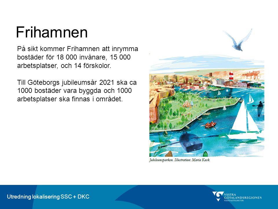 Frihamnen På sikt kommer Frihamnen att inrymma bostäder för 18 000 invånare, 15 000 arbetsplatser, och 14 förskolor.