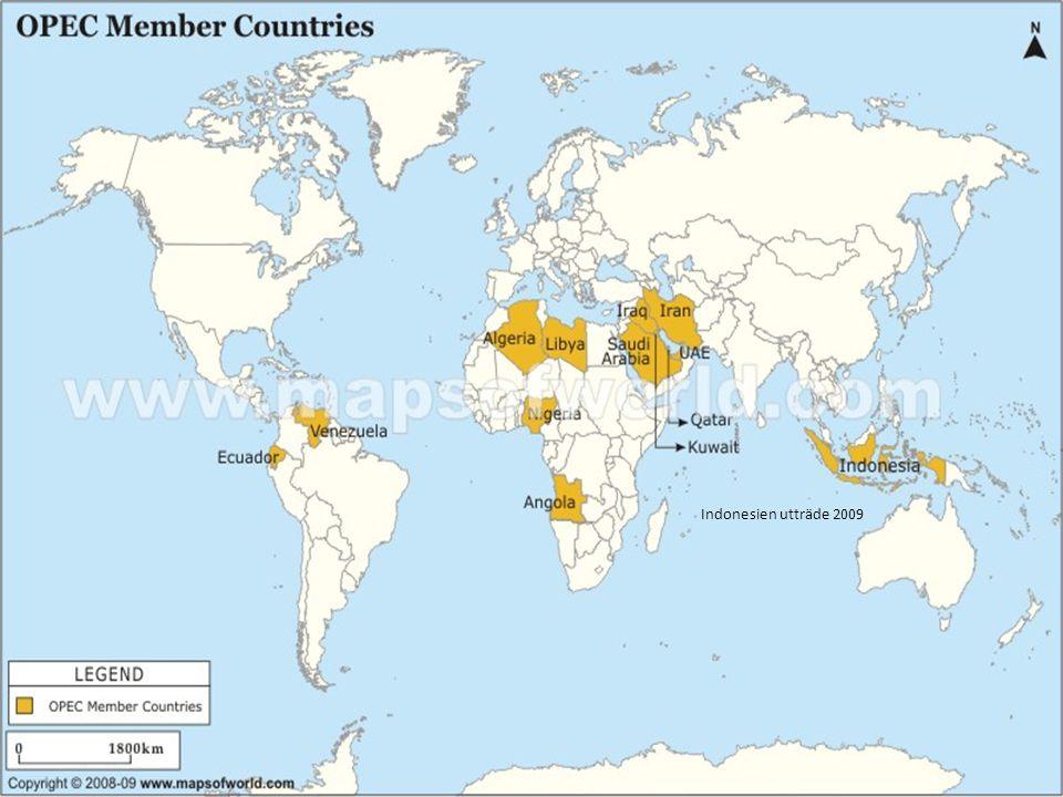 OPEC-länder Indonesien utträde 2009