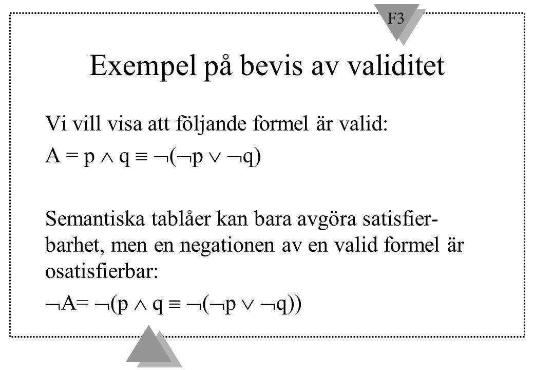 Exempel på bevis av validitet