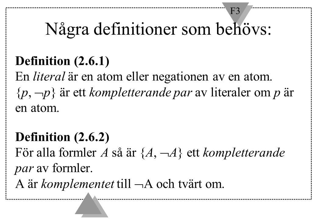 Några definitioner som behövs: