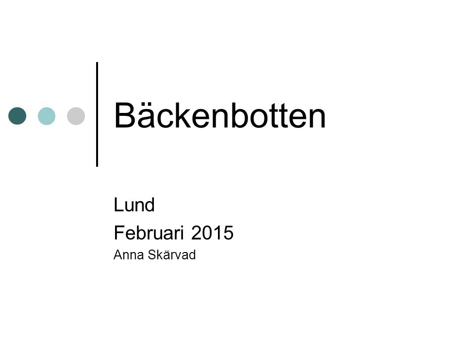 Lund Februari 2015 Anna Skärvad