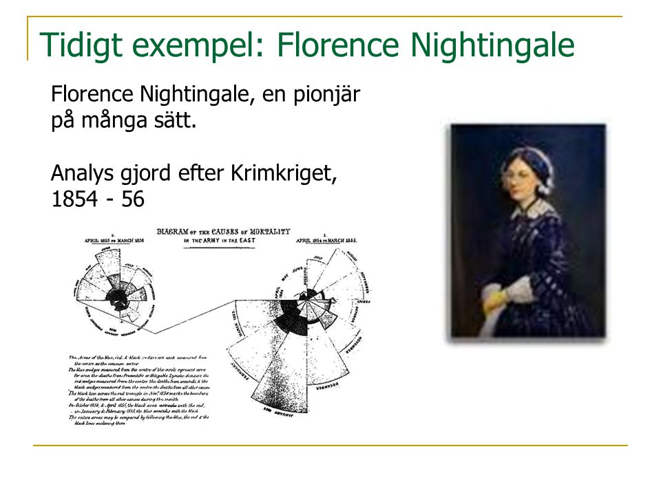 Tidigt exempel: Florence Nightingale