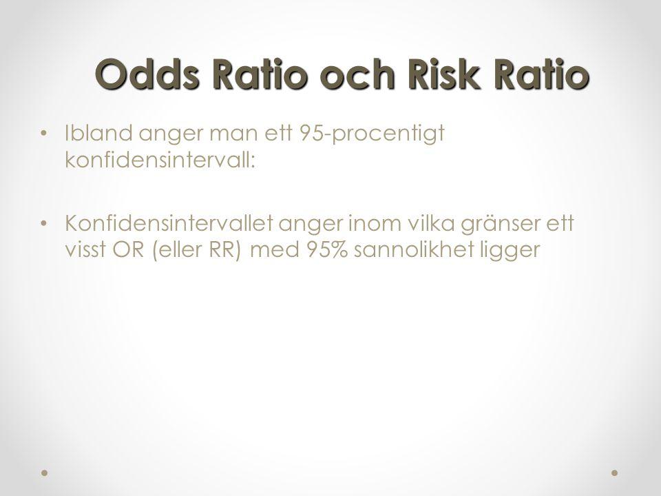 Odds Ratio och Risk Ratio