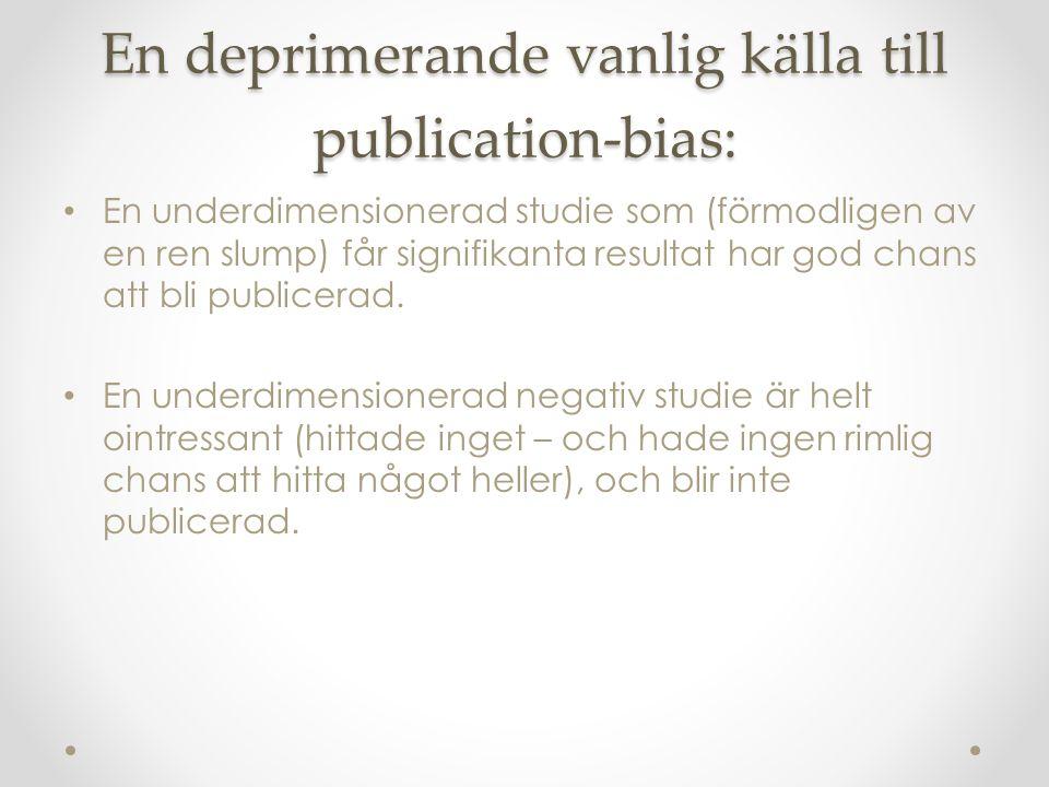 En deprimerande vanlig källa till publication-bias: