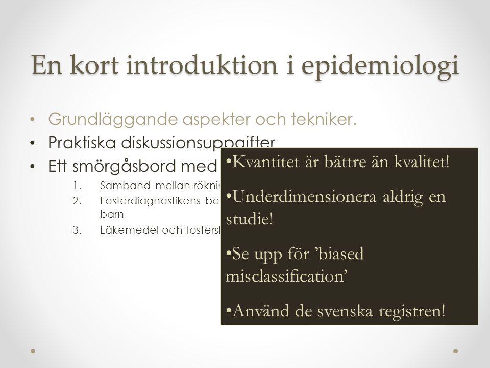 En kort introduktion i epidemiologi