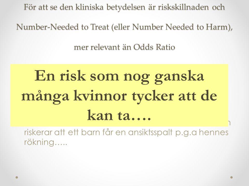 En risk som nog ganska många kvinnor tycker att de kan ta….