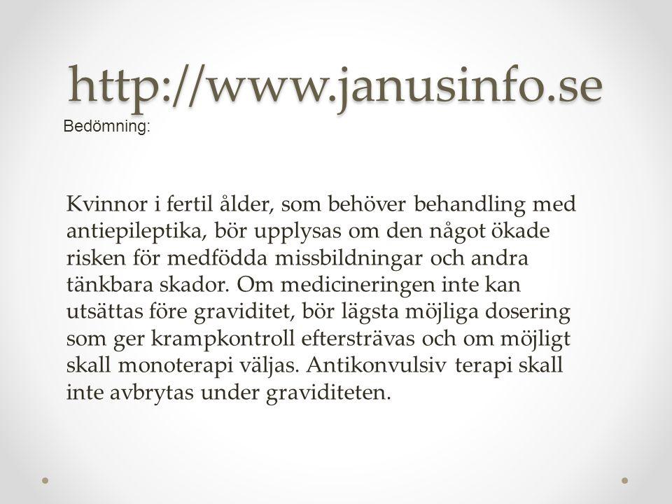 http://www.janusinfo.se Bedömning: