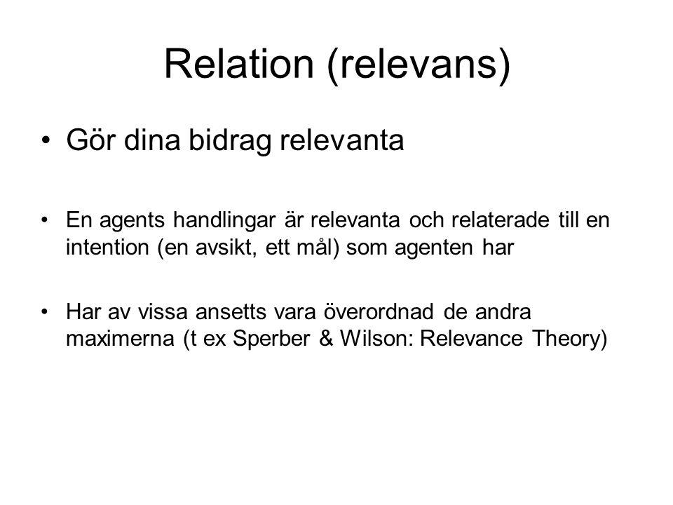 Relation (relevans) Gör dina bidrag relevanta