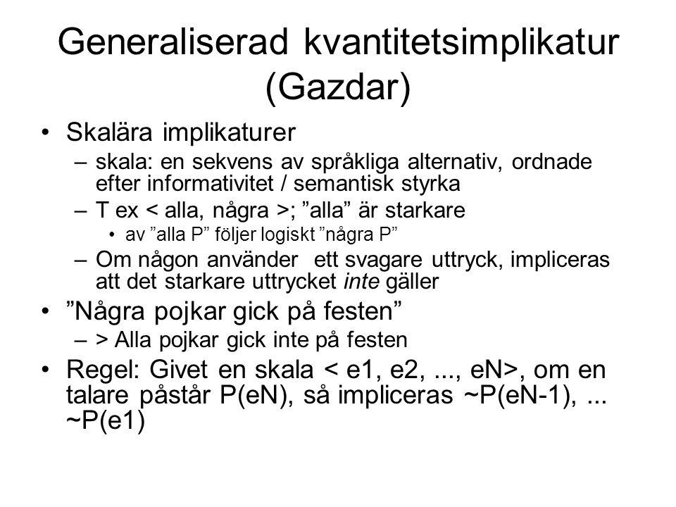 Generaliserad kvantitetsimplikatur (Gazdar)