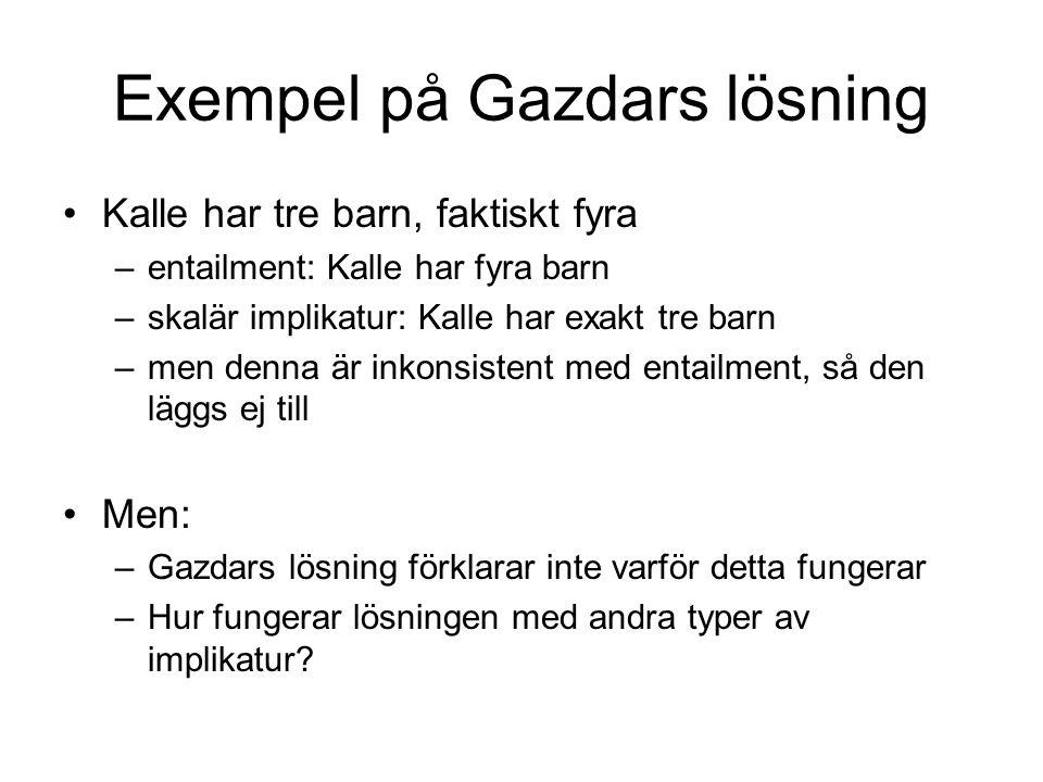 Exempel på Gazdars lösning