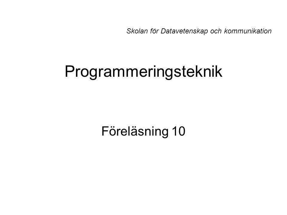 Programmeringsteknik