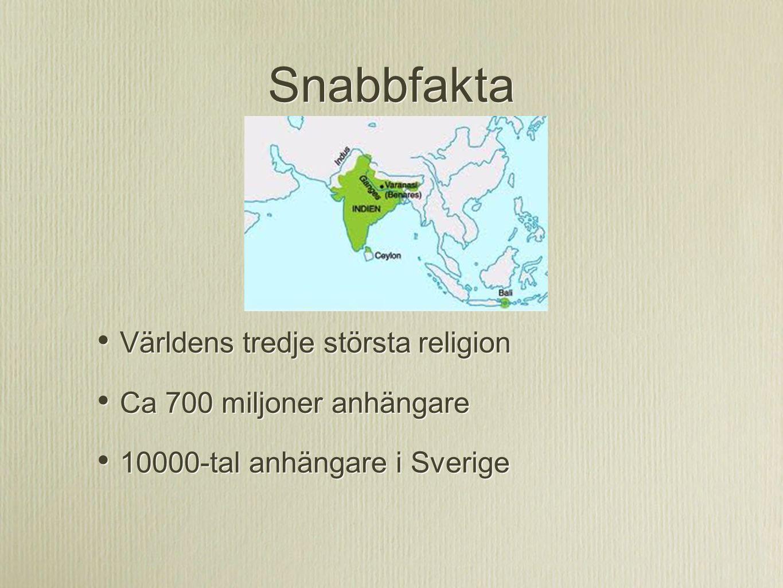 Snabbfakta Världens tredje största religion Ca 700 miljoner anhängare