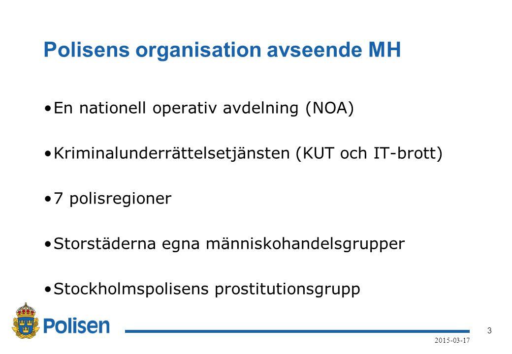 Polisens organisation avseende MH