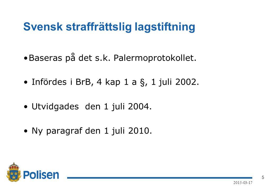 Svensk straffrättslig lagstiftning