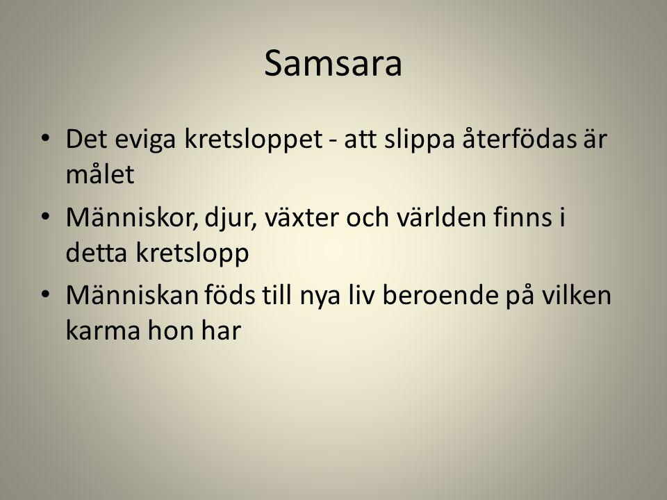 Samsara Det eviga kretsloppet - att slippa återfödas är målet