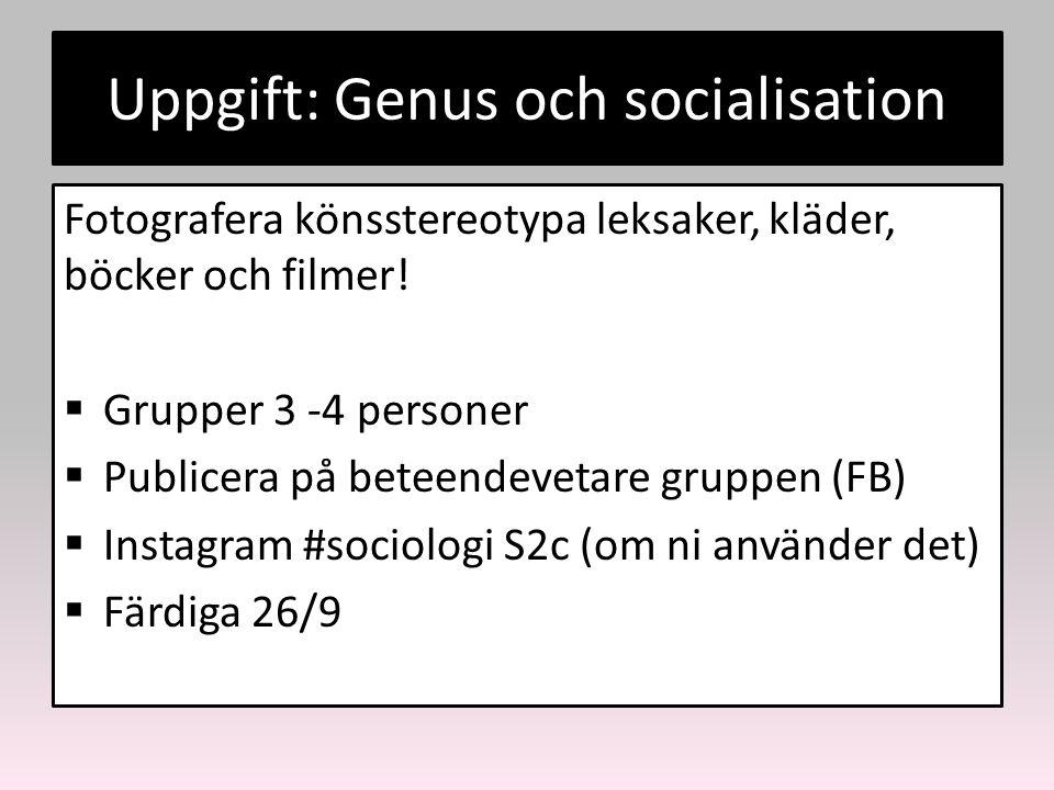Uppgift: Genus och socialisation