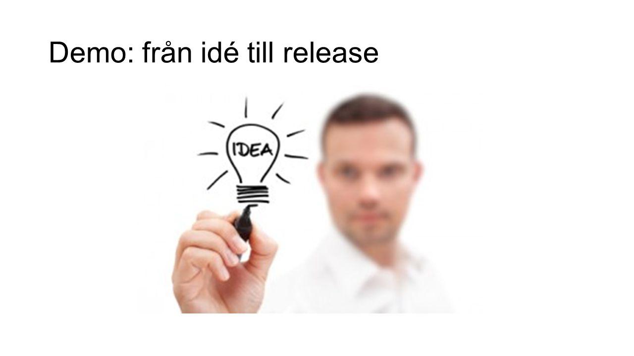 Demo: från idé till release