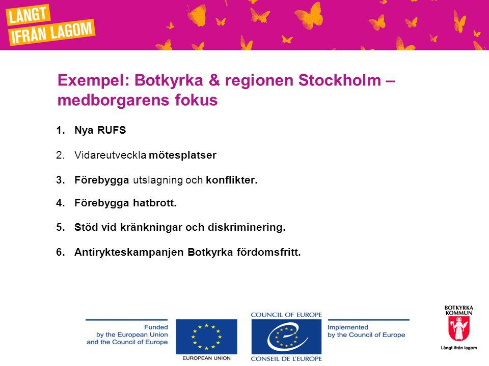Exempel: Botkyrka & regionen Stockholm –medborgarens fokus