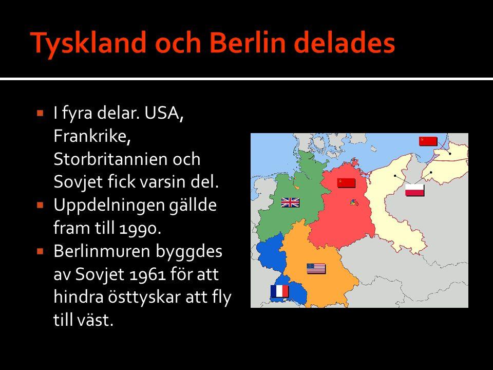Tyskland och Berlin delades