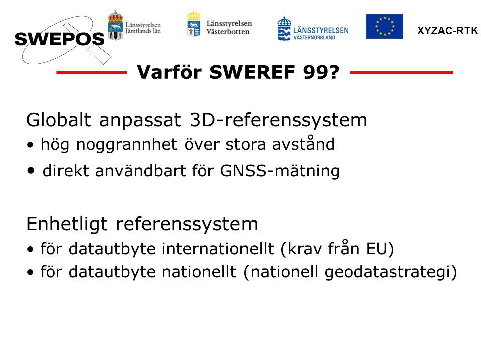 Globalt anpassat 3D-referenssystem direkt användbart för GNSS-mätning